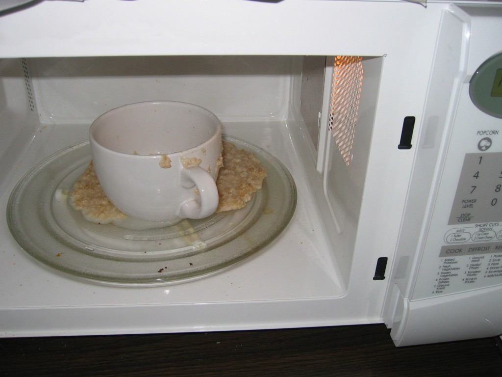 Microwave with the flu