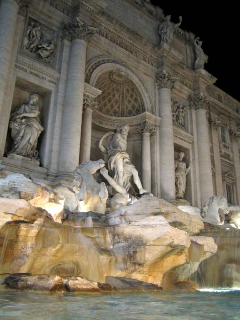 Trevi Fountain waterfalls