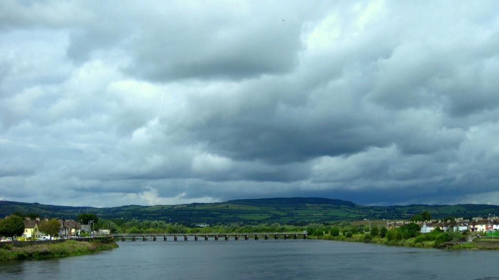 Irish hills beyond the Shannon