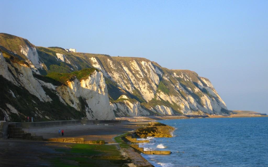 The famous white cliffs