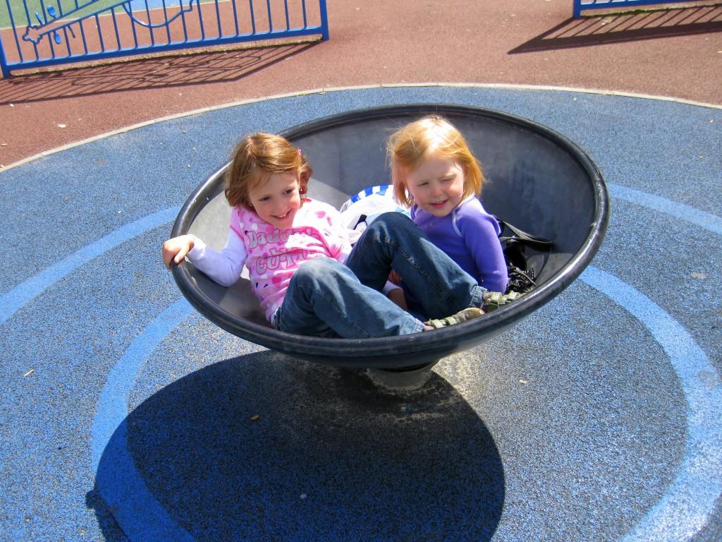 Girls in a bucket