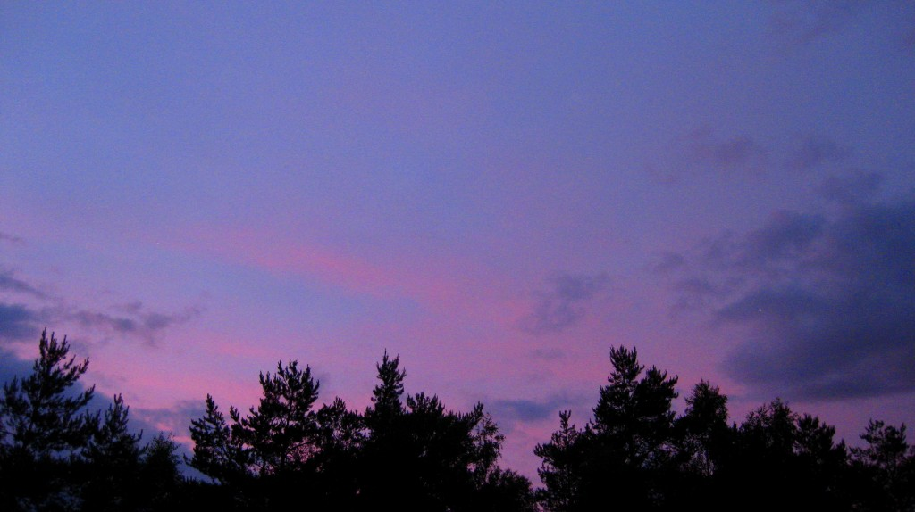 The sky at 11 p.m.