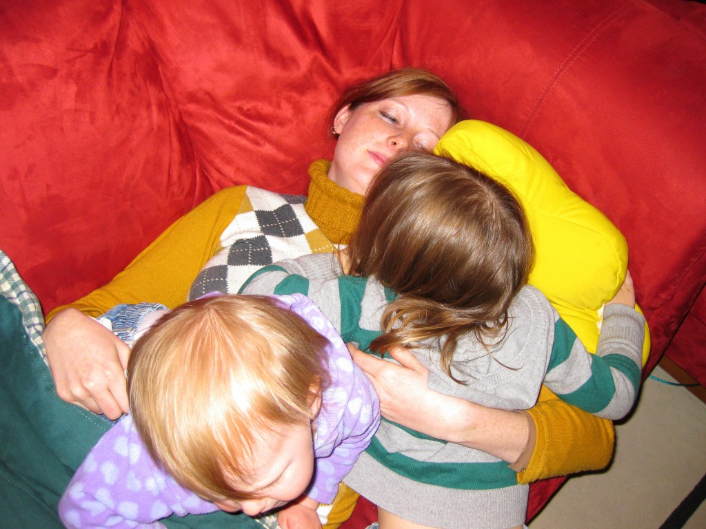 Tackling sick Mommy