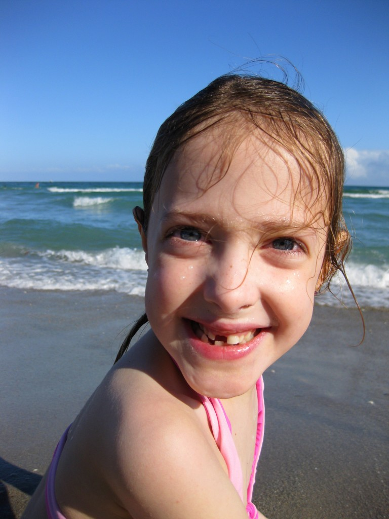 Natalie loves every minute at the beach