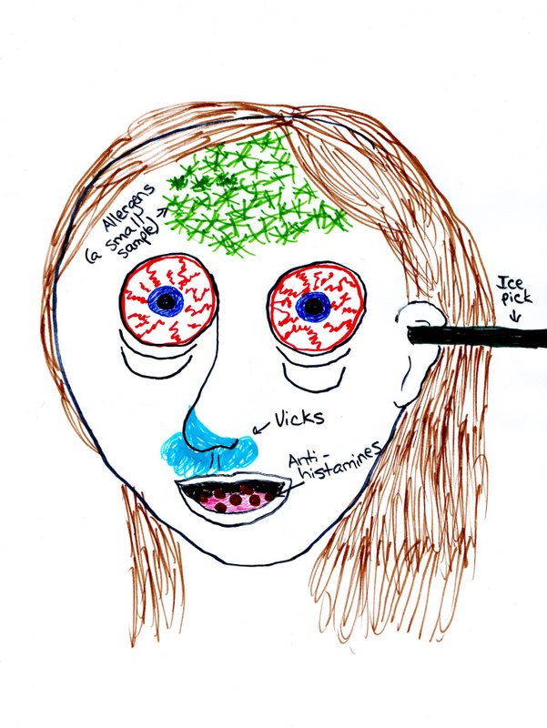 Self-portrait with allergies