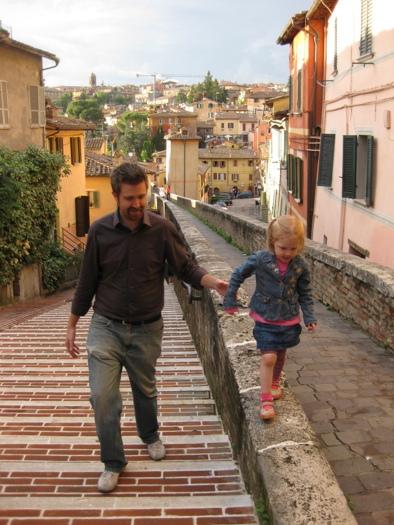 Perugia - Walking on the aqueduct
