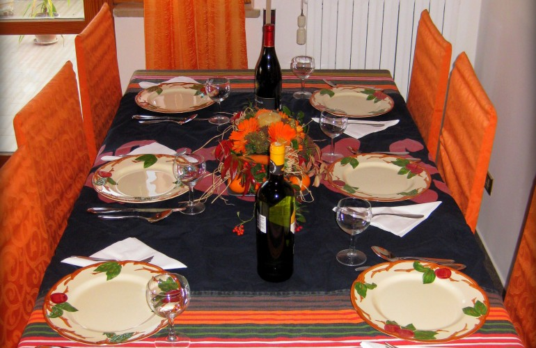 The Thanksgiving table 1