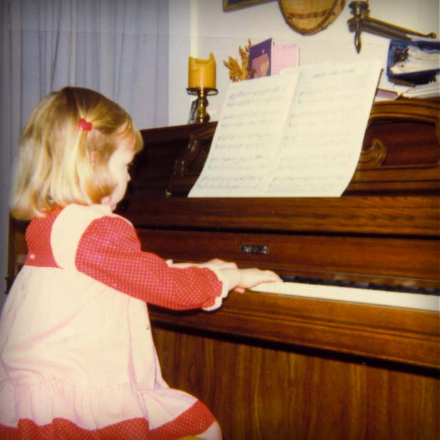 Bethany at the piano