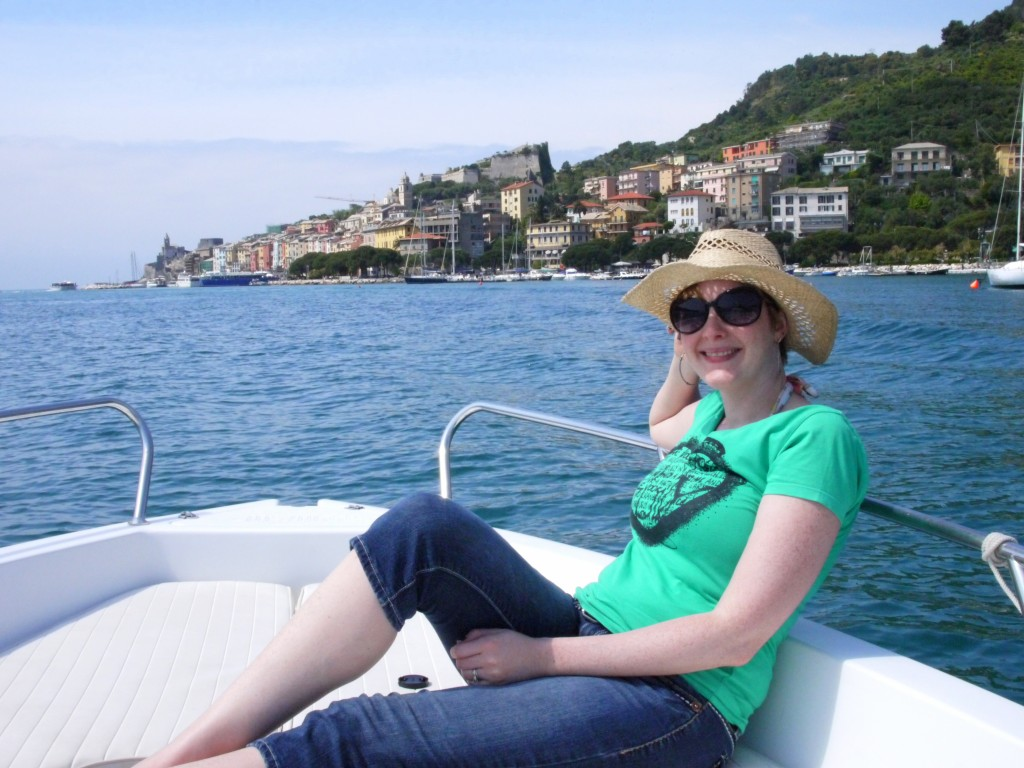 Bethany on the boat