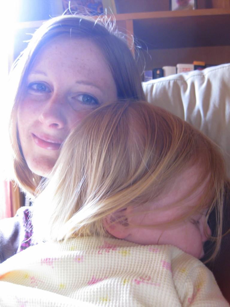 Falling asleep on Mommy 1