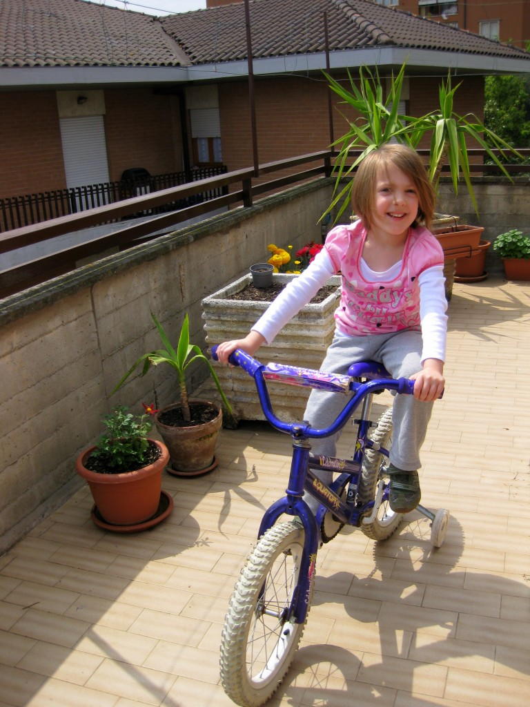 Learning to ride a bike 4
