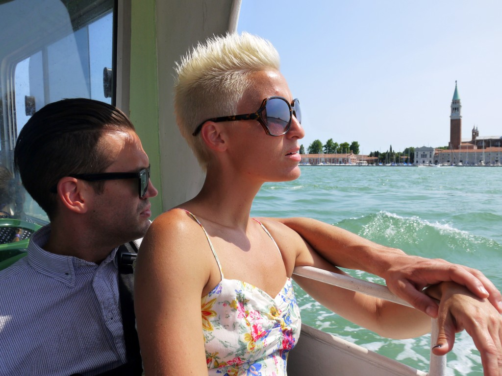 Austin and Erika on the waterbus
