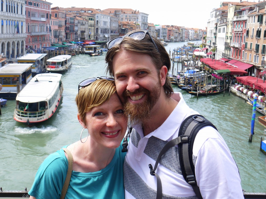 Dan and Bethany on the Rialto Bridge