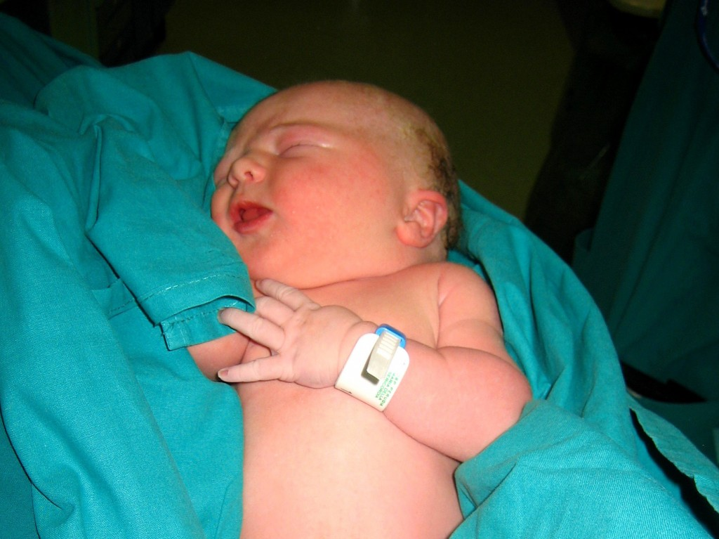 Sophie's birth - Newborn