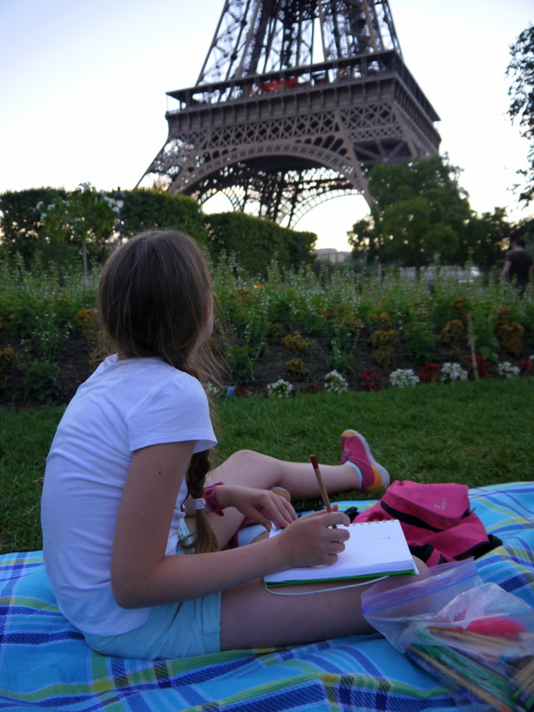Sketching the Eiffel Tower